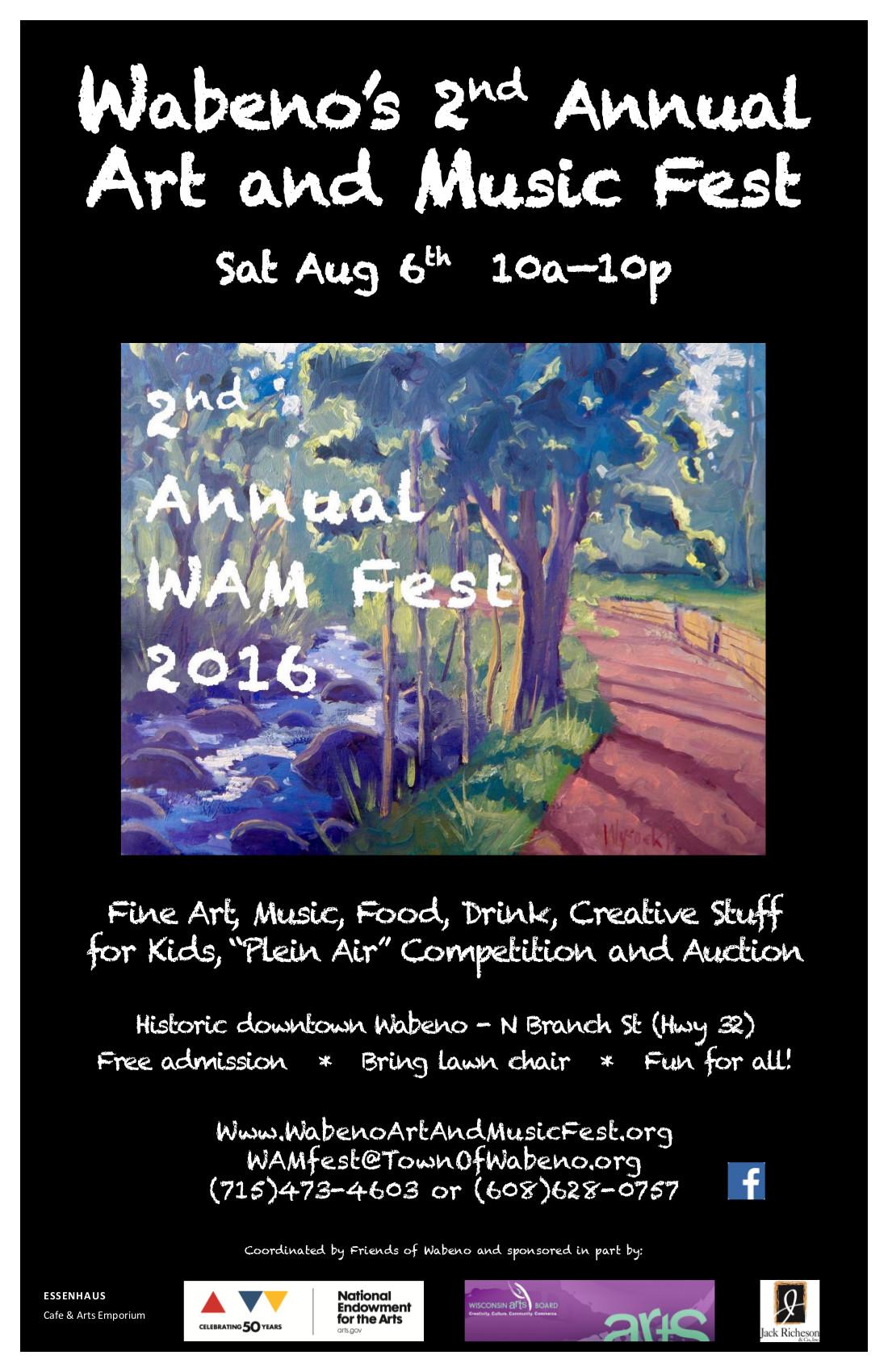 2016 WAM Fest Poster
