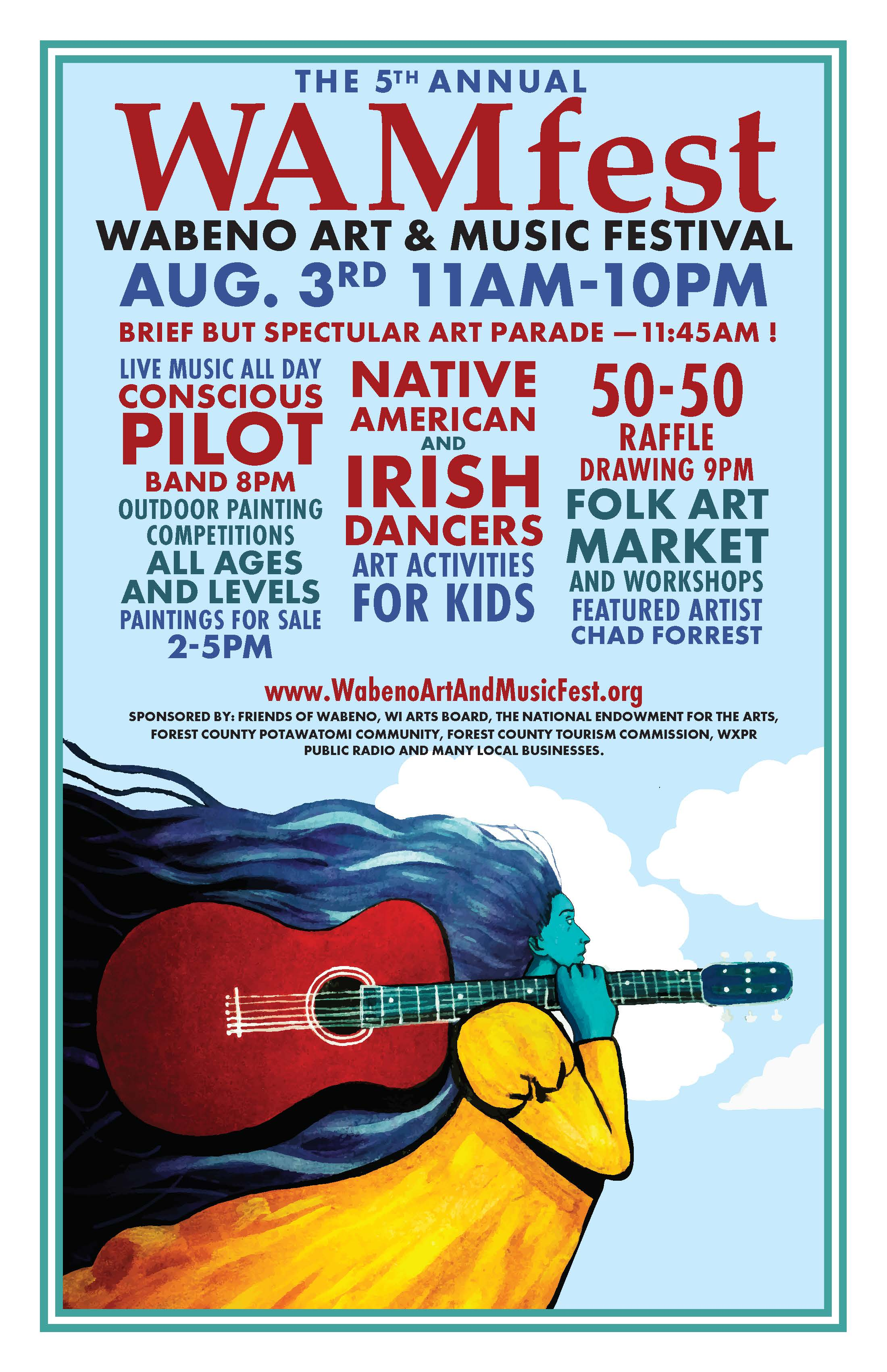 2019 WAMfest – 5th Annual Wabeno Art and Music Festival August 3, 2019